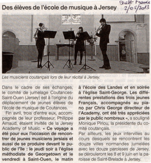 Ouest France newspaper article