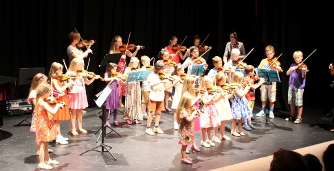 Violinists at Arts Centre concert
