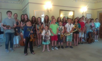 Lilla Akademien and Jersey students at the 2014 Jersey International Masterclasses