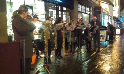 Flutes and Saxes Busking