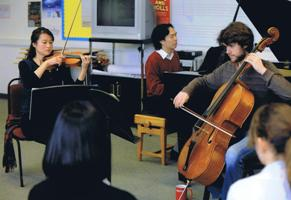 Lakeside Trio performing at Jersey College for Girls